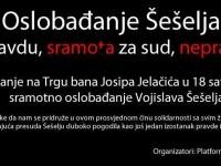 Prosvjed na Trgu bana Jelačića zbog oslobađajuće presude Šešelju