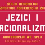 """Ekspernta konferencija """"Jezici i nacionalizmi"""" u Splitu"""