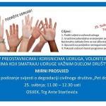 Mirni prosvjed – podrška civilnom društvu, Osijek, 25. svibnja