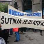 Novinari prosvjedovali zbog narušavanja medijskih sloboda