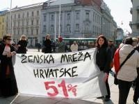 Foto: Prosvjed na Dan žena, 8.3.2016., Ženska mreža Hrvatske