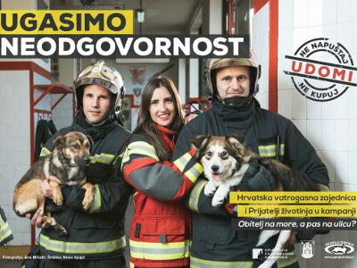 Plakat kampanje ''Obitelj na more, a pas na ulicu?''