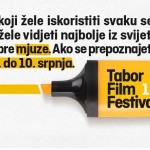 Tabor Film Festival, Veliki Tabor, od 7. do 10. srpnja