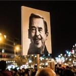 Lik Vaclava Havela večeras na fontanama u Zagrebu