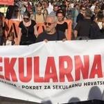 Prosvjed protiv Vatikanskih ugovora, 22.10., Strossmayervo trg, Zagreb