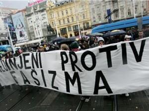 Antifašisti prosvjedovali protiv skupa ekstremnih desničara, foto FaH/ Lana SLIVAR DOMINIĆ/ lsd