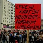 Prosvjed građana Središća protiv megalomanske gradnje tik uz MSU