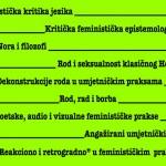 Poziv za prijavu u obrazovni modul Kreativni kritički laboratorij – Feminističke teorije i prakse