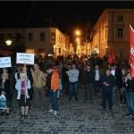 """Prosvjed na zagrebačkom Markovom trgu """"Protiv Todorića: protiv pogodovanja tajkunima!"""""""