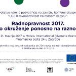 """Konferencija """"Radnopravnost 2017. – Radno okruženje ponosno na raznolikost"""", 21.4.2017."""
