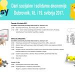 Dani socijalne i solidarne ekonomije, Dubrovnik 18. i 19. svibnja 2017.
