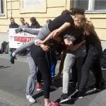 Počeo 24-satni prosvjed plesnih umjetnika na Gornjem gradu