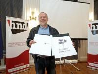 Novinar i urednik Zoran Šprajc nakon dodjele nagrada
