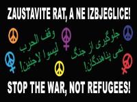 Zaustavite rat, a ne izbjeglice!