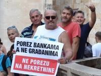 Splićani prosvjedovali protiv poreza na nekretnine