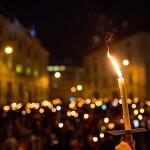 U Beču 3000 prosvjednika u svijetlećem lancu protiv ekstremne desnice