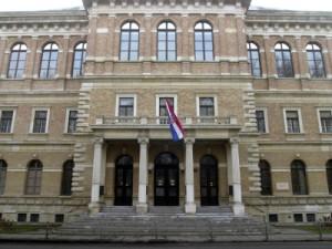 Zagreb, 27.04.2011 - Arhivska fotografija zgrade Hrvatske akademije znanosti i umjetnosti (HAZU) u Zagrebu, od 27.12.2002. godine. foto FaH/ Damir SENČAR /ds