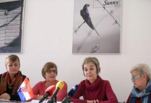 Na fotografiji Snježana Maljak, Đurđica Panjkas, Jadranka Cigelj, Verica Martinović. foto HINA/ Daniel KASAP / dk