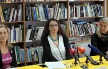 Na slici Sanja Cesar, Željka Leljak Gracin i Vesna Teršelič. Foto HINA/ Dario GRZELJ/ dag