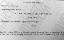 Željka Markić proglašena krivom za klevetu