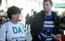 Na slici Mirna Međimorec i Igor Iskra tijekom konferencije. foto HINA/ Miljenko KLEPAC/ ua