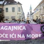 GALERIJA: Ženska mreža Hrvatske prosvjed nazvan 'Blagajnica hoće ići na more' posvetila svim bezimenim ženama koje strepe za svoju egzistenciju