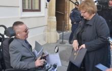 .Na fotografiji Stjepan Petrišić i Nada Murganić. foto HINA/ Admir BULJUBAŠIĆ/ abu
