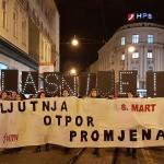 Tisuće na Noćnom maršu za 8. mart zatražilo: Zahtijevamo ostavku ministrice Murganić!