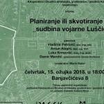 Tribina Planiranje ili skvotiranje – sudbina vojarne Luščić
