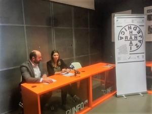Na fotografiji: doc.dr.sc. Nenad Vretenar,  Ekonomski fakultet u Rijeci i voditeljica projekta doc.dr.sc. Ana Bobinac, udruga Centar za kulturu dijaloga.