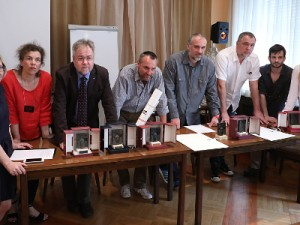 Na fotografiji  Ljubica Letinić, Drago Pilsel, Boris Pavelić, Vojislav Mazzocco, Ernest Marinković, Jerko Bakotin, foto HINA/ Lana SLIVAR DOMINIĆ