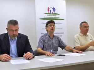 Na fotografiji Hrvoje Jukić, Oliver Čanić, Bojan Klapčić. foto HINA/ Admir BULJUBAŠIĆ