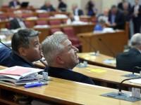 Zagreb, 16.05.2018 - Na fotografiji Boris Lalovac, Ranko Ostojić u Hrvatkom saboru. foto HINA/ Denis CERIĆ
