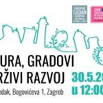 """Poziv na panel raspravu """"Kultura, gradovi i održivi razvoj"""" povodom Europskog tjedna održivog razvoja"""