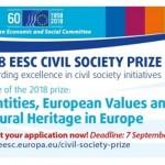 EGSO nagrada za razvoj civilnoga društva 2018. – Identiteti, europske vrijednosti i kulturna baština u Europi