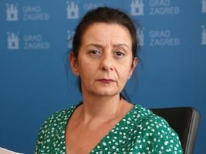 Na fotografiji: pročelnica Gradskog ureda za socijalnu zaštitu i osobe s invaliditetom Romana Galić, foto HINA /Zvonimir KUHTIĆ/