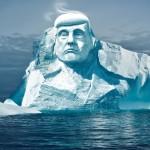 Hoće li se lice Donalda Trumpa na arktičkom ledenjaku otopiti?