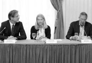 Saša Milošević, Vesna Teršelič i Serge Brammertz na konferenciji 'Pravda nakon Haaga' Foto: Tomislav Miletić/PIXSELL