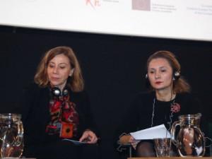 Na fotografiji francuska veleposlanica Corinne Meunier (L) i pravobraniteljica za ravnopravnost spolova Višnja Ljubičić (D). foto HINA/ Zvonimir Kuhtić