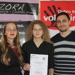 Lucija Pokrivač Najvolonterka Udruge Zora za 2018 godinu