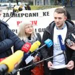 Održan prosvjed eko udruga protiv poskupljenja odvoza otpada u Zagrebu