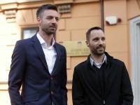 Na fotografiji Ivo Šegota, Mladen Kožić. Foto HINA/ Daniel KASAP