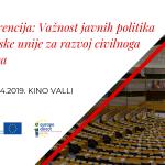 Konferencija o važnosti javnih politika Europske unije za razvoj civilnog društva