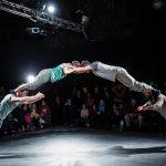 Francuski cirkuski spektakl na platou ispred Doma mladih u Splitu