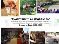 """Raspisan natječaj za male projekte u zajednici """"Mali projekti za bolje sutra"""""""