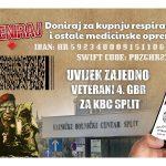 """Humanitarna akcija """"Uvijek zajedno – Veterani 4. gardijske brigade za KBC Split"""""""