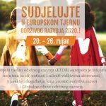 Sudjelujte u Europskom tjednu održivog razvoja – uživo ili virtualno