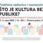 """Centar nezavisne kulture Zadar poziva na radionicu """"Što je kultura bez publike?"""""""