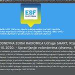Na ESF.platformi otvorene prijave na dvodnevnu ZOOM radionicu: Upravljanje volonterima