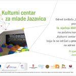 """Početna konferencija projekta """"Kulturni centar za mlade Jazavica"""""""